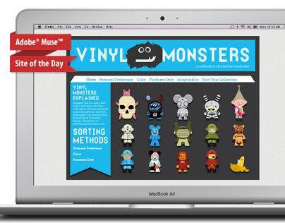 Vinyl Monsters Collection Website
