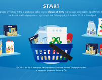 P&G and Tesco Olympic promo microsite