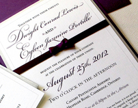 Dwight & Eyleens Wedding Invitation Design