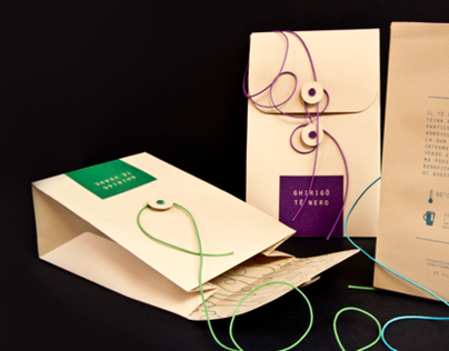 Ghirigò tea packaging