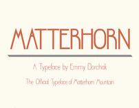 Matterhorn - A Typeface
