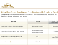 Marriott Vacation Club Benefit Chart