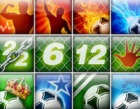 Soccer game icons