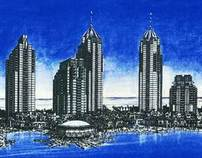 Dubai Marina Design Drawings