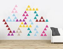 Triangle Pattern Wall Stickers £99.99