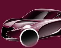 Car Design Sketches Set #1