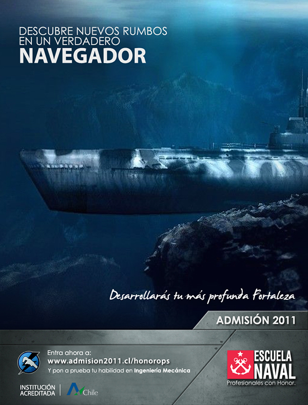 Chilean Navy 2011 Admission Campaign (print)