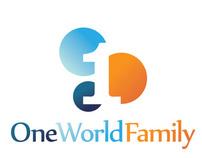 One World Family logo, materials & website