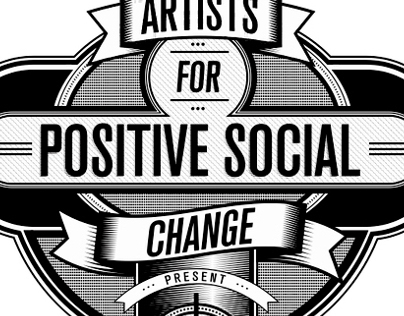 Artists for positive social change T-shirt design