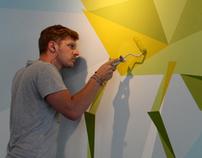 Bird Murals - Zizzi Cardiff