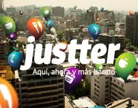 Justter — Aquí, ahora y más barato