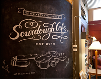 Sourdough Cafe Chalk Mural