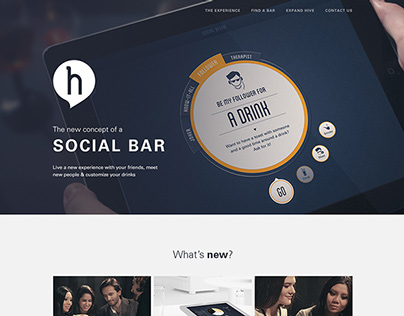 Hive, the social bar - Website