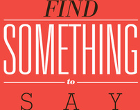 Find Something To Say