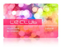 LOREAL LE CLUB CARD DESIGN
