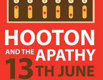 Hooton And The Apathy Band Tour Poster