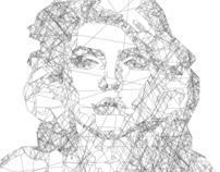 Debbie Harry Line Portrait