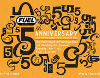 Fuel's 5th Anniversary Invite
