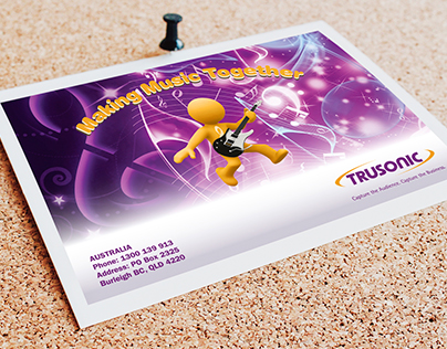 Trusonic: Making Music Together Poscard