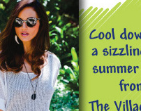 Ad for The Village Fox Boutique in PineStraw Magazine