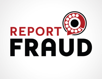 Report Fraud Oklahoma Logo Design