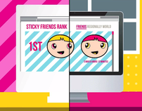 Stride Sticky Friends