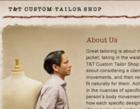 T & T Custom Tailor Shop Website