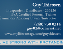 Life Vantage Protandim Business Cards