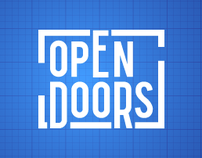 Open Doors exhibition identity
