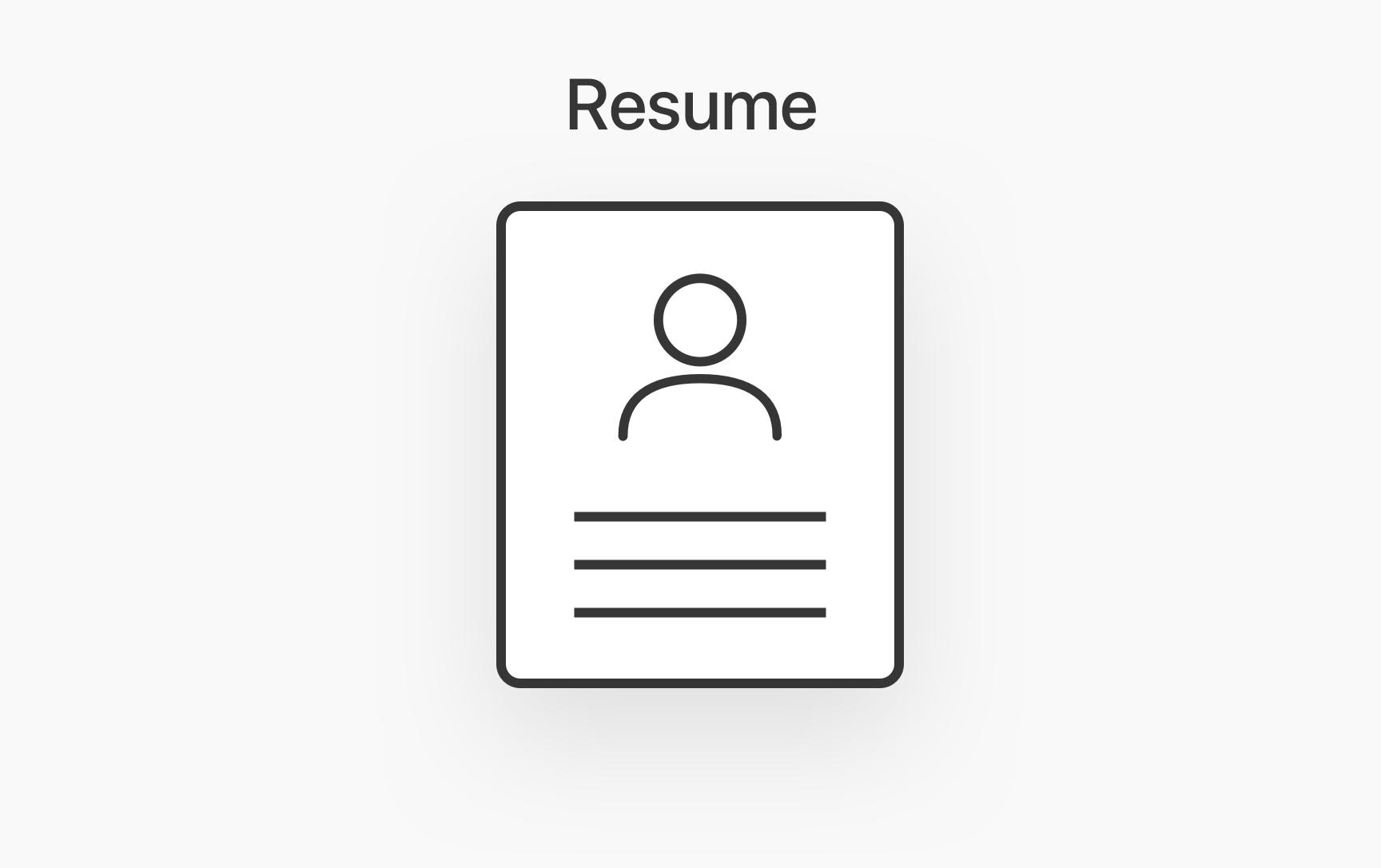 2007 Interview & Resume