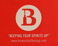 Browns Bottle Shop Branding