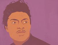 Vector Illustration Portraits of Iconic Musicians