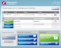 Hawaiian Air Web and Kiosk Design