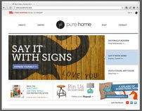 Pure Home Website Redesign