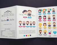 CMYK Themed Wedding Invites and more