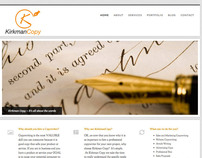 Kirkman Copy, Copywriter -Website Development
