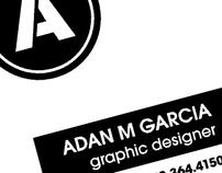 Adan M Garcia Business Card & Logo