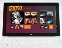 Gaana - Windows 8 App