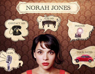 Website for Norah Jones