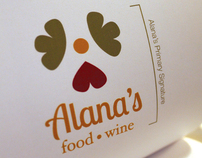 Alanas Food & Wine Rebrand