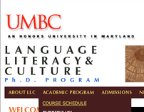 UMBC Language, Literacy & Culture Program Website