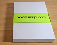 Noupi Head T-shirt and Packaging