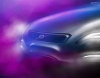 Volvo station wagon sketch