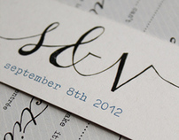 s & v wedding invites