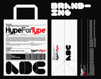 HypeForType logo and branding case study, 2010.