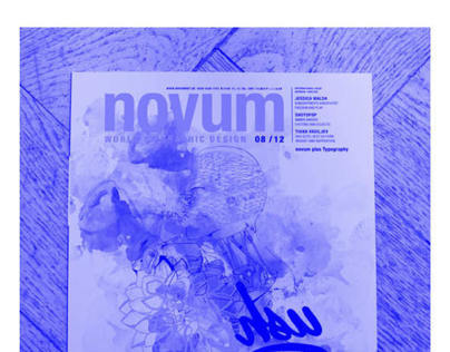 Novum Magazine 08/12 Cover Design