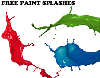 Free paint splashes