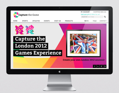 Capture the Game London 2012 Olympic website design