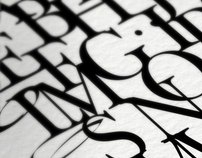 Typography posters related to the history of design