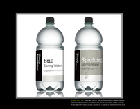 Bottled water labels design for Tower of London (HRP)